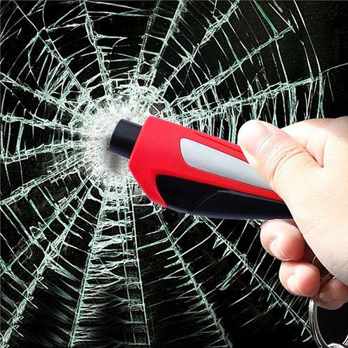 1PCS Portable Seat Safety Hammer CarGlass Car Window Breaker LifeSaving Escape Rescue Tool Seat Belt Cutter Keychain Hamer
