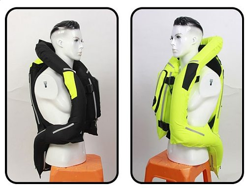 Motorcycle Airbag Jacket Long Reflective Motocross Racing Airbag Jacket Riding Antifall Clothing Spine Hip Tail Vest Clothing