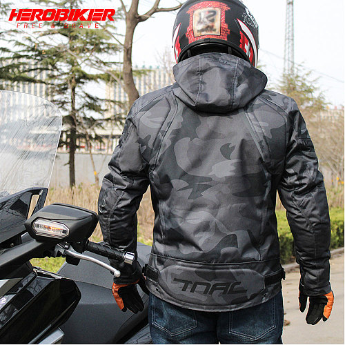 HEROBIKER Motorcycle Jackets Motocross Racing Jacket Breathable Men Motorbike Riding Waterfroof Four Seasons Reflective Clothes