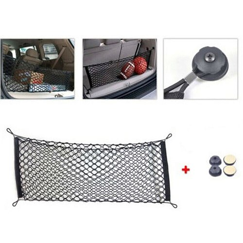 Car Cargo Net Accessory Envelope Style Trunk Netting Organizer Universal 110*50cm Elastic Nylon Netting