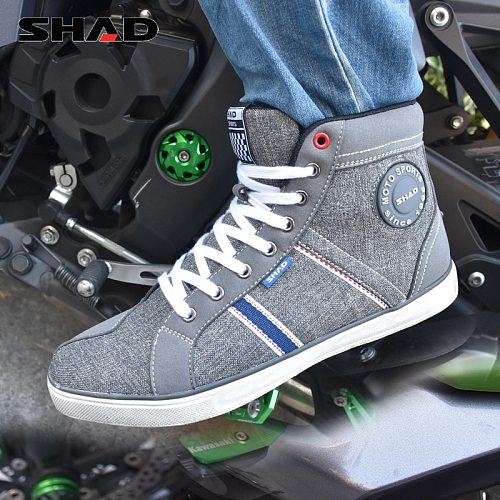 SHAD Motorcycle Riding Shoes Fashion Casual Wear Breathable Biker Boots Motorbike Boots Street Racing Unisex Boots