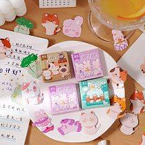 45 Pcs Cat Stickers Animal Theme Stickers Forg Rabbit Cat Shape Decals Diy Decorative Scrapbook Stickers For Envelope Scrapbook