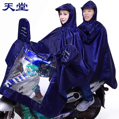 Portable Black Overall Bike Waterproof Scooter Raincoat Jacket Survival Outdoors Raincoat Vinyl Regenjacke Rider Rainsuit JJ15