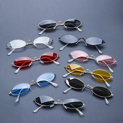 Fashion Vintage Shades Sun Glasses Elegant okulary Retro Small Oval Sunglasses for Men Women Eyeglasses gafas oculos
