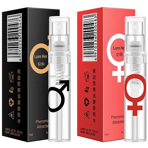 New 2021 3ml Pheromone Perfume Aphrodisiac Woman Orgasm Body Spray Flirt Perfume Attract Girl Scented Water For Men Lubricants