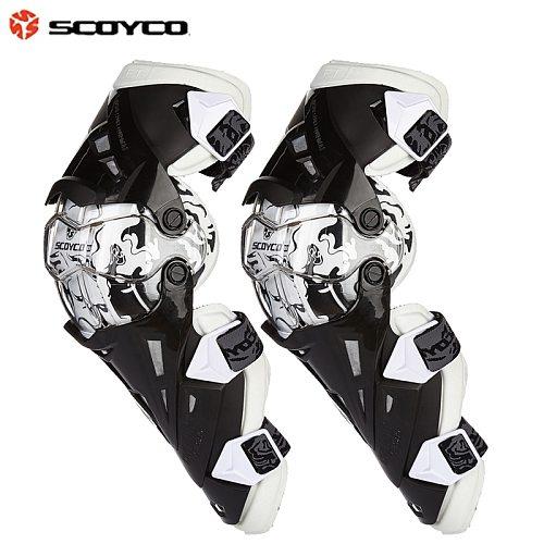 Scoyco Motorcycle Racing Protective Guard Gear Knee pad Knee Protector Motocross Kneepad Motor Bike Knee Gear K12