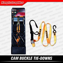 KUNGFU GRAPHICS Cam Buckle Tie Down Strap 1.8m for Motorcycle Bicycle ATV Quad Cargo Transport Lift Tow Pull Move Drag Rope Belt
