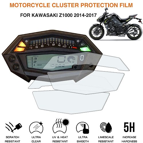 Motorcycle Cluster Scratch Protection Film Screen Protector For Kawasaki Z1000 2014-2017