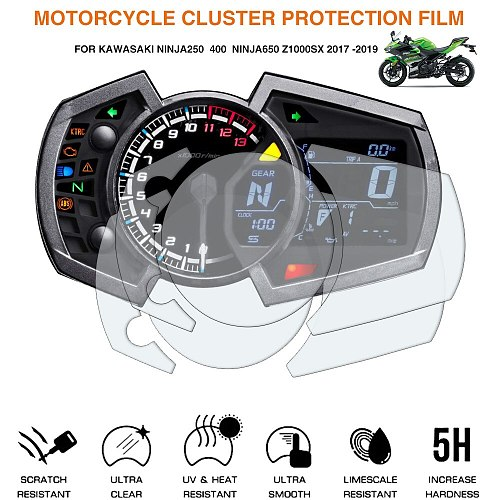 Motorcycle Cluster Scratch Protection Film Screen Protector For Kawasaki Ninja250 400 Ninja650 z1000SX 2017-2019