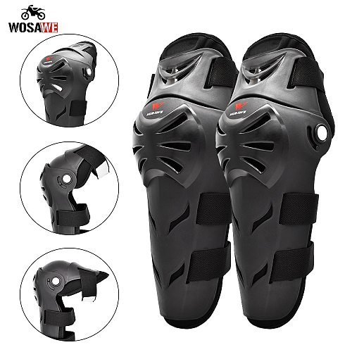 WOSAWE Motorcycle Full KneePads Motocross Knee Protection Protective Guard Gear Sport Bike Reflective Knee Protector Elbow pads