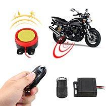 12V Anti-theft Security Alarm System Remote Control Key Car Keyring Motorcycle Bike Smart Alarm Interior Accessories
