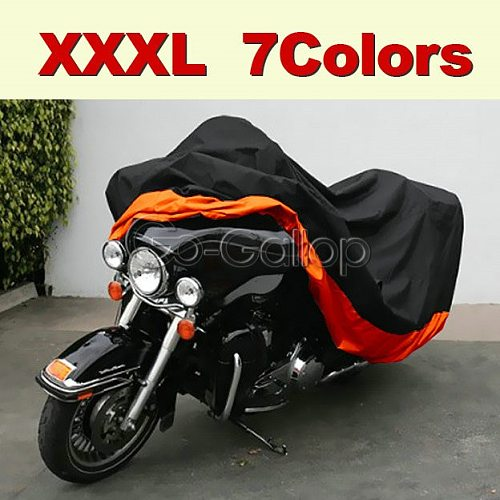 XXXL Motorcycle Cover For Harley Road King Electra Glide Street Glide Tourings / Honda Goldwing / Yamaha ROYAL STAR Venture