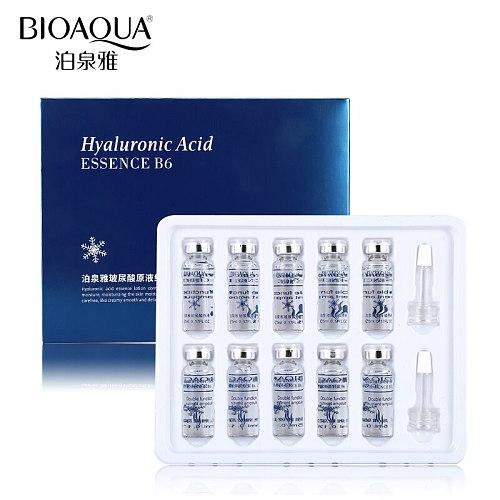 BIOAQUA 10pcs/lot Moisturizing Vitamins Hyaluronic Acid Serum Facial Skin Care Anti Wrinkle Anti Aging Collagen Essence Liquid