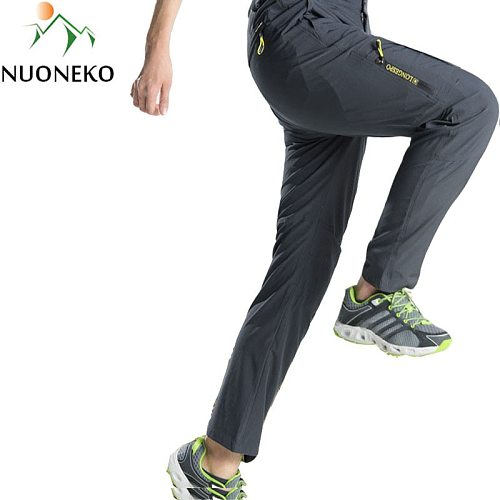 NUONEKO Mens Hiking Pants Tourism Camping Quick-Dry Summer Outdoor Sport Tactical Waterproof Wear-Resistant Cargo Trousers PNT02