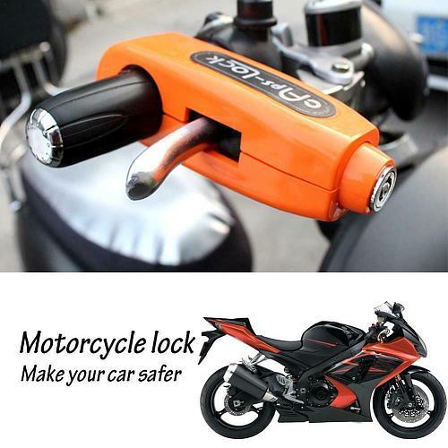Motorcycle Lock Scooter Handlebar Lock Brake Throttle Security Grip Grip Locks Motorcycle Anti Theft L Protection N7A1