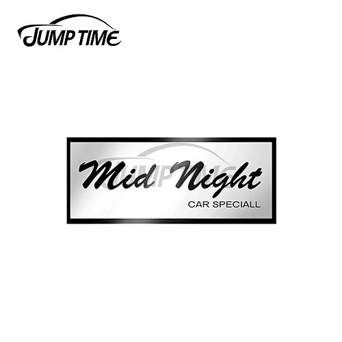 JumpTime 13 x 3.3cm For MidNight Club Vinyl Car Stickers Windows Motorcycle Helmet Personality JDM Assessoires Decal for VAN