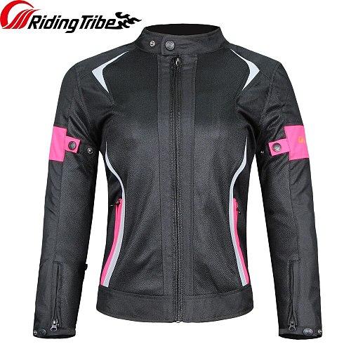 Women Motorcycle Jacket Pants Summer Waterproof Winter Warm Suit Riding Raincoat Lady Motorbike Protective Coat Trousers JK-52