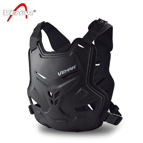 VEMAR Newest Adult Motorcycle Armor Vest Chest Back Protection Motocross Ski Skateboard Safety Jacket Moto Wear Protective Gear