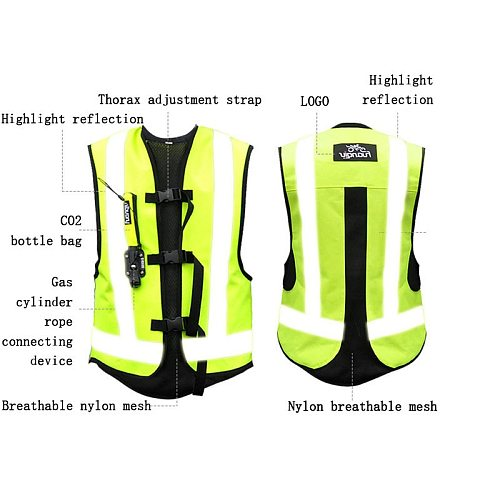 Motorcycle Air-bag Vest Moto Racing Professional Advanced Air Bag system motocross protective airbag