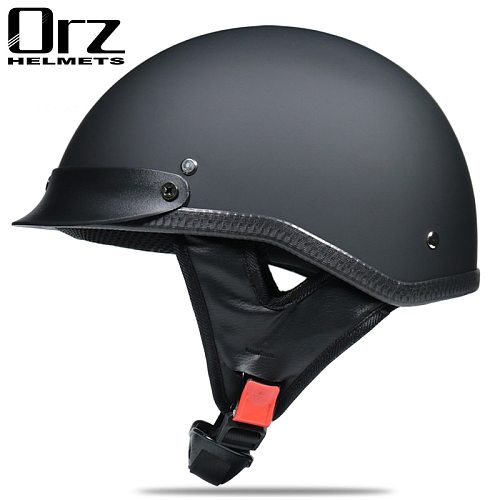 Half face Motorcycle Helmet vintage retro scooter jet helmet Cruiser Vintage Open Face Helmets With Windproof Collar