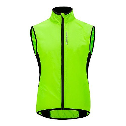 WOSAWE High Visibility Reflective Vest Motorcycle Cycling Outdoor Sports Safety Clothing Reflective Jacket Windbreaker Vest