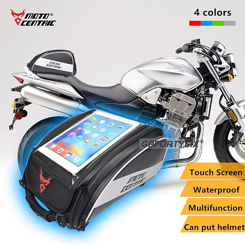 Motocentric Waterproof Motorcycle Tank Bag Magnetic Moto Motorbike Helmet Backpack Reflective Motocross Rider Rear Seat Bag