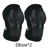 Adults Children Soft Elbow & Knee Pads Adjustable Protective Gear Guards Set for Cycling Skiing Riding Skateboard Roller Skating