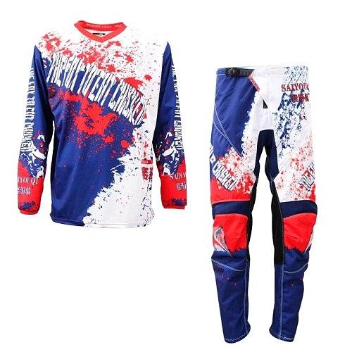 SAIYOUQI 2020New Jersey Pants Motocross Gear Set Jersey and Pants Racing Suit Jersey+Pants Motorcycle riding combination H