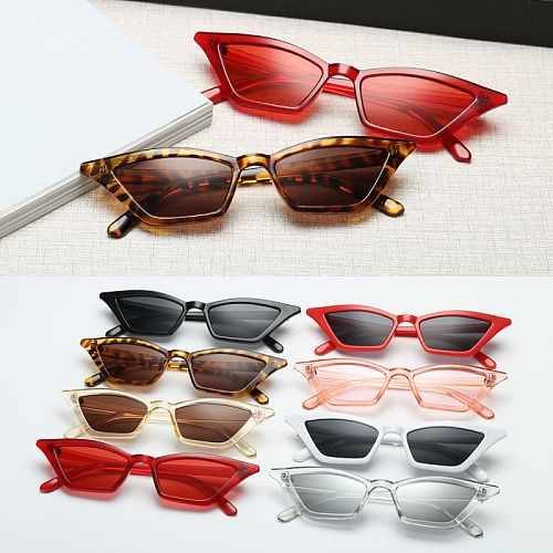 New Vintage Cat Eye Sun Shades glasses  Fashion Women Small Frame UV400  SunGlasses Street Eyewear Luxury Trending Sunglasses