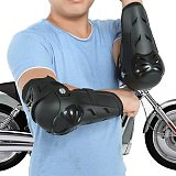 4 pcs Motorcycle Protective Cycling Elbow and Knee Pads Protector equipment Guards Armors kneepad Set gears Race brace Black