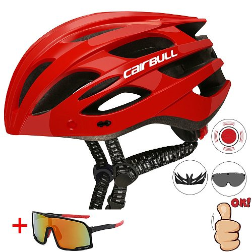 2021 Cairbull Cycling Helmets Safety Tail Light Goggles Intergrally-molded Bicycle Cap Road Bike MTB Helmet XC Cascos Ciclismo