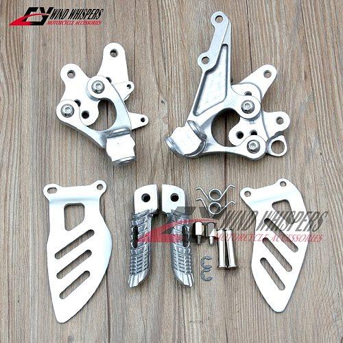 Motorcycle Front Footrests Foot pegs tripod Pedal stent assembly For Suzuki GSXR600 GSXR750 GSXR 600 750 L1 L2 L3 L4 L5 2011-UP