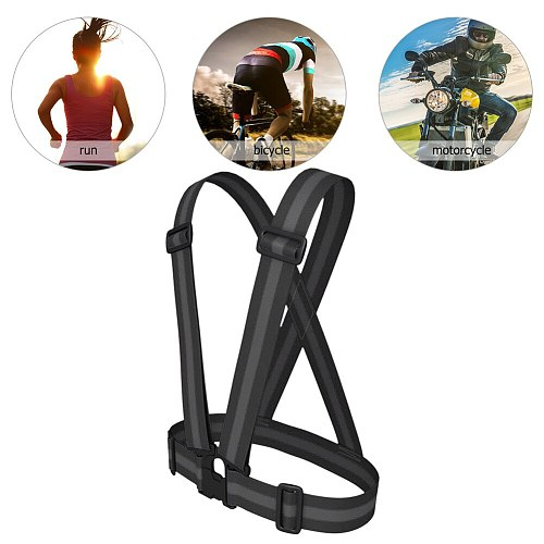 Traffic Night Riding Work Security Clothing Night Running Reflective Strap Vest High Visibility Reflective Safety Jacket