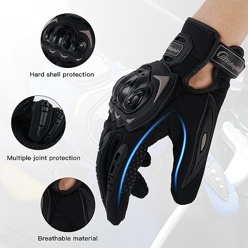 Motorcycle Glove Guantes Moto Touch Screen Full Finger Breathable Powered Outdoor Motorbike Racing Riding Bicycle Gloves Summer