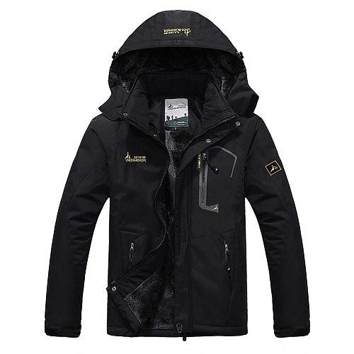 2021 Men's Winter Inner Fleece Waterproof Jacket Outdoor Sport Warm Brand Coat Hiking Camping Trekking Skiing Male Jackets VA063