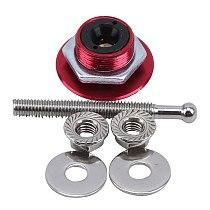 Universal Push Button Billet Hood Pins Lock Clip Kit Engine Bonnets Lock Aluminum Car Quick Latch Engine Cover Lock