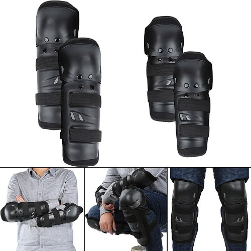 4pcs Motorcycle Combinations Street Gear Unisex Knee Elbow Guard Kit Elastic For Bicycle Racing Motorcycle Cycling Combinations