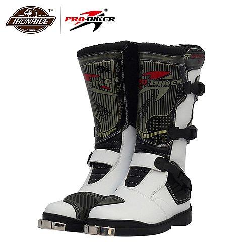 PRO-BIKER Motorcycle Boots Waterproof Motocross Boots Racing Riding Boots Off-Road Motorbike Biker Motorcycle Shoes for Men