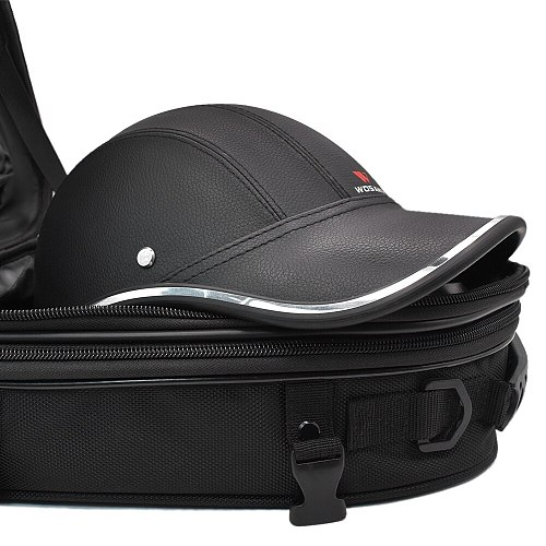 WOSAWE 18-24LWaterproof Motorcycle Tail Bag Multi-functional Durable Rear Seat Bag Backseat Pack Motobike Helmet Bag Backpack