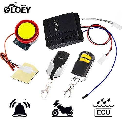 12V Universal Anti-Theft Motorcycle 2 Remote Controls Security Alarm System Moto Motorbike Scooter Alarm System 2019 New