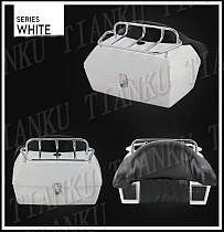 Motorcycle Trunk Tail Box Luggage With Top Rack Backrest For Honda Shadow Spirit Sabre Aero ACE Steed VLX 400 600 1100 DLX VTX