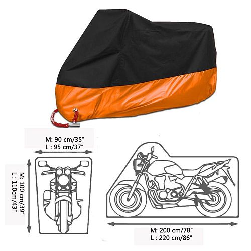 Motorcycle Rain Covers Dustproof Waterproof Snow Uv Protective Outdoor Bike Motor Bike Case Quad Cover For ATV Scooter