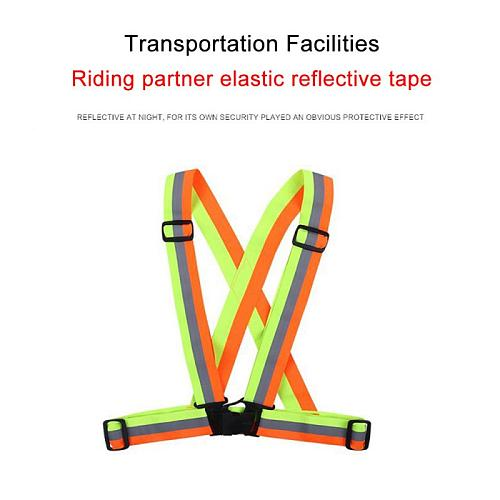 Highlight Reflective Straps Night Running Riding Clothing Vest Adjustable Safety Vest Elastic Band For Adults Children Wholesale