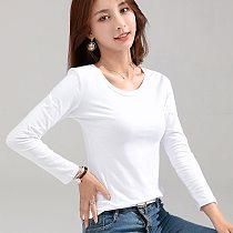 MRMT 2021 Brand New Women's T-shirt Slim Cotton 100% Women T-shirt Long-sleeved for Female Thin White Pure Tops Woman T shirt