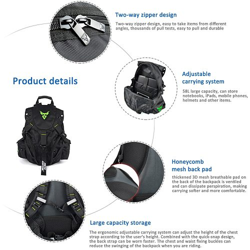MOTO CENTRIC Outdoor Sports Riding Package Motorcycle Backpack Motorcycle Helmet Backpack Motorcycle Cycling Computer Backpack K