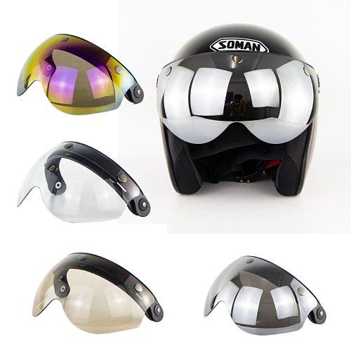 W glasses 3 Snap 3/4 Helmet Shield with FLIP UP Hinge for TORC T50 Vintage Motorcycle Helmets