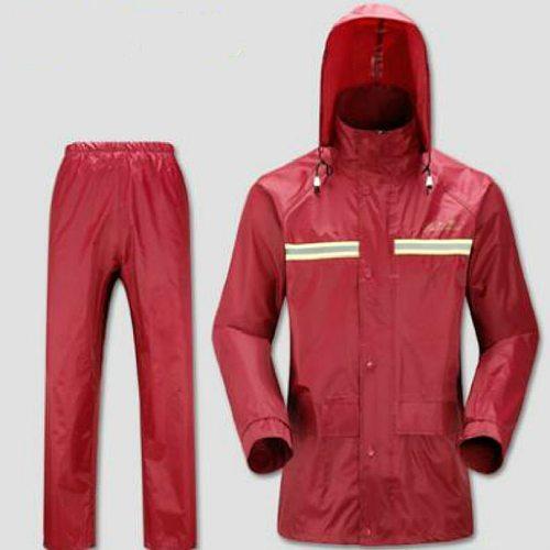 rain suit motorcycle Rider Raincoat scooter rain coat S M L XL XXL XXXL DEEP BLUE  RED FREE SHIPPING