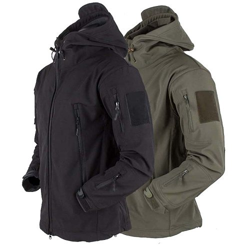 Tactical Jacket Airsoft Hiking Jackets Shark Skin Soft Shell Clothes Windbreaker Waterproof Hood Military Outdoor Jacket Men