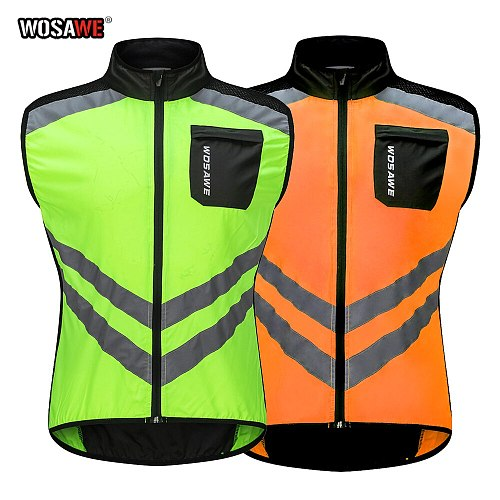 High Visibility Reflective Outdoor For Motorcycle Cycling Sports Vest Car Reflective Clothing For Safety Traffic Safety Vest