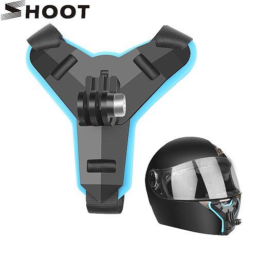 Motorcycle Helmet Front Chin Bracket Holder Tripod Mount for GoPro Hero 8 7 5 Black Xiaomi Yi 4K Sjcam Eken Go Pro Hero 7